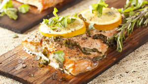 Cedar Planked Grilled Fish