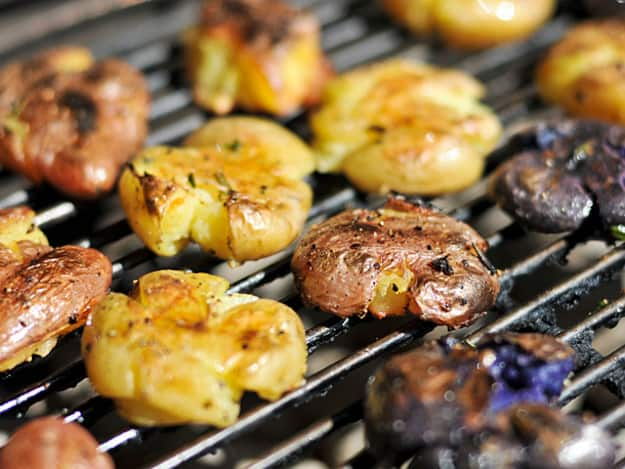 gourmet grilling smashed potatoes