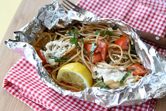 grilled pasta packets gourmet grilling