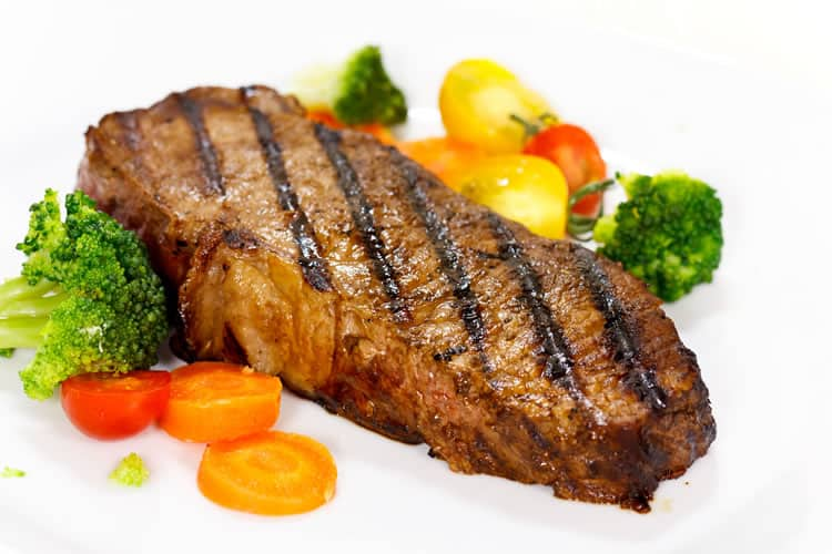 gourmet steak with broccoli