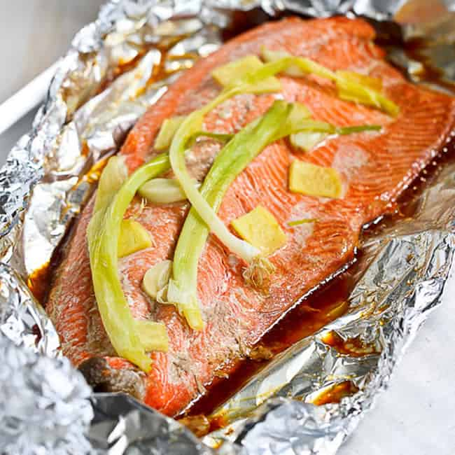 salmon with ginger and soy sauce