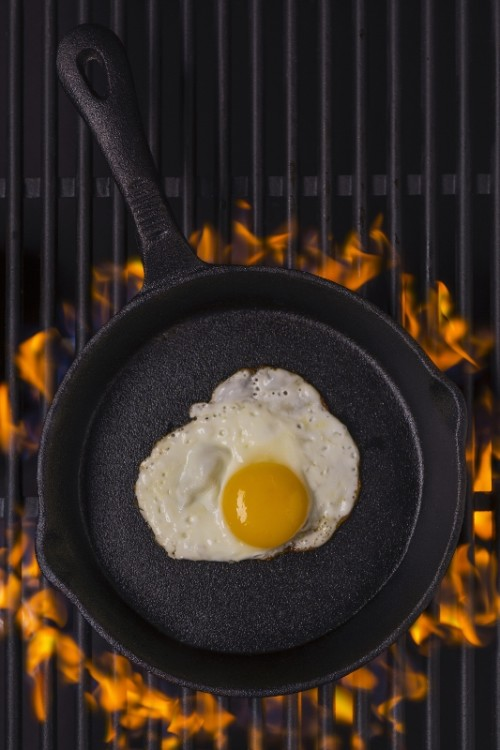 grilled eggs