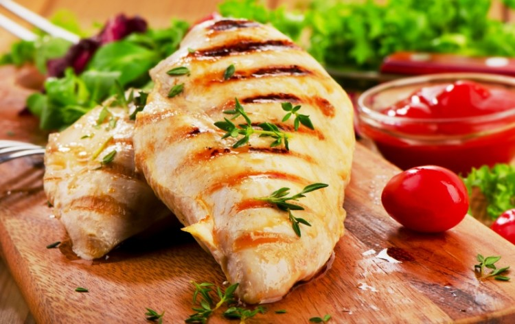 grilled chicken oil grill