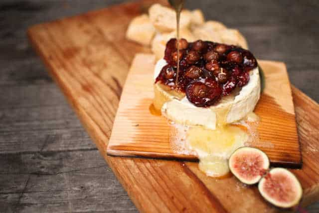 Planked Brie with Figs