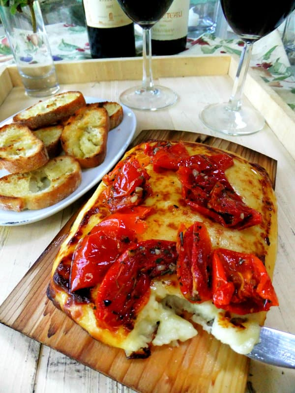Planked Cheese Appetizer