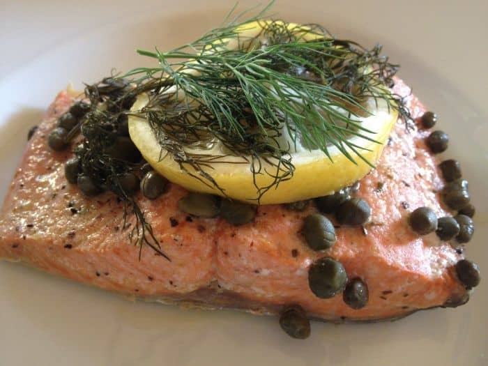 Caper Salmon Grilled In Foil