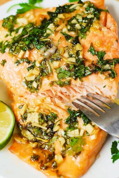 Cilantro-Lime Honey Garlic Salmon