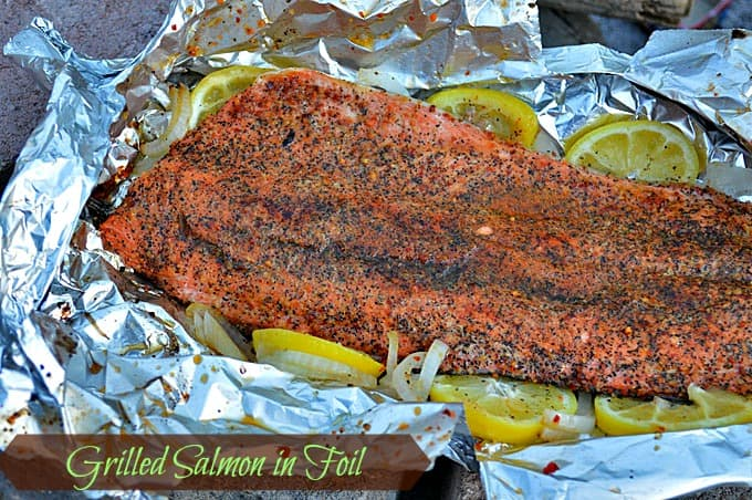 Grilled Salmon in Foil AKA Gourmet Salmon