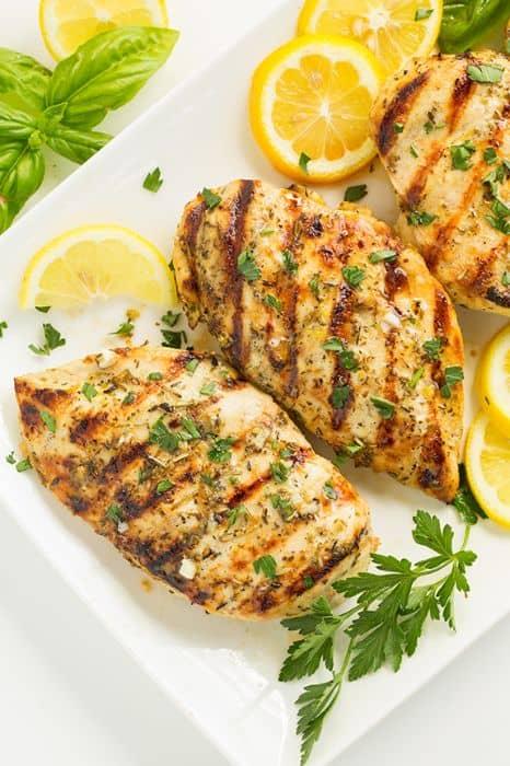 Grilled Greek Lemon Chicken