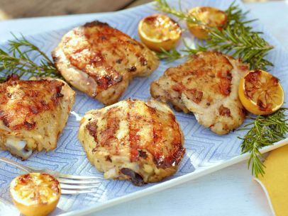 Lemon and Herb Marinated Grilled Chicken Thighs