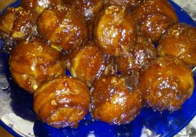 Bacon Wrapped Cheese Stuffed Meatballs