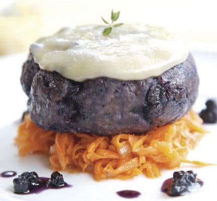 Blueberry Venison Burger
