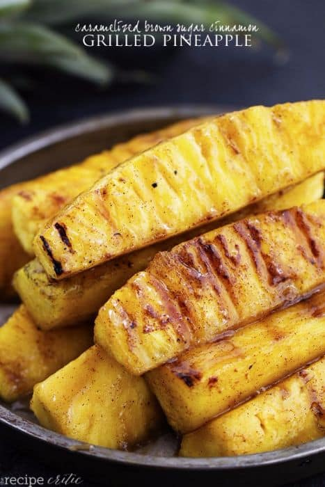 Carmelized Brown Sugar Grilled Pineapple