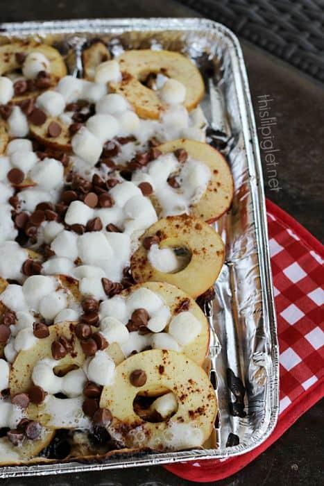 Campfire Apple Smores Nachos