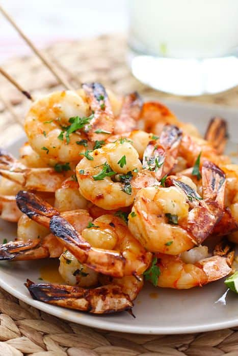 Honey Sriracha Shrimp Kebab