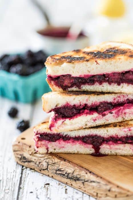 Lemon Lavender Blackberry & Ricotta Grilled Cheese
