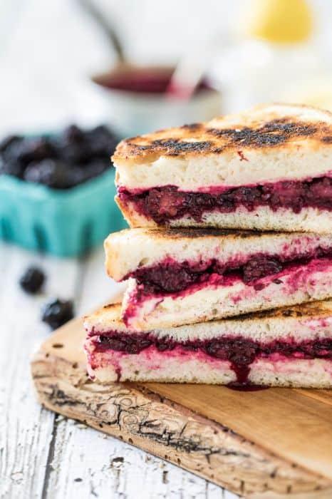 Lemon Lavender Blackberry & Ricotta Grilled Cheese