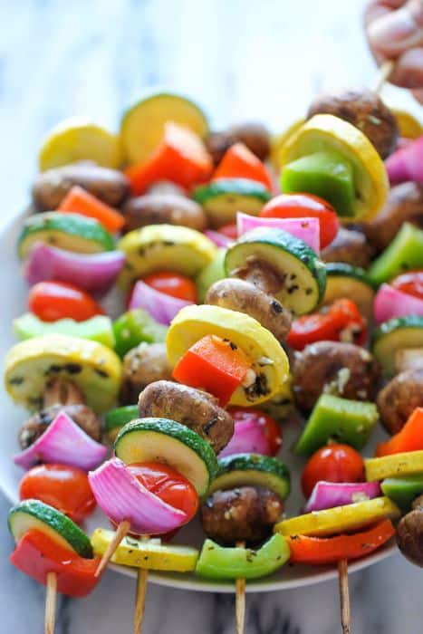 Marinated Vegetable Kebabs