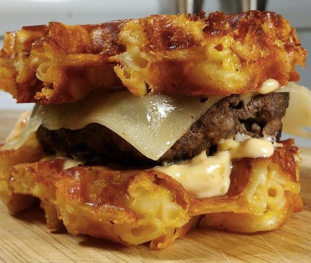 Waffle Mac & Cheese Burger