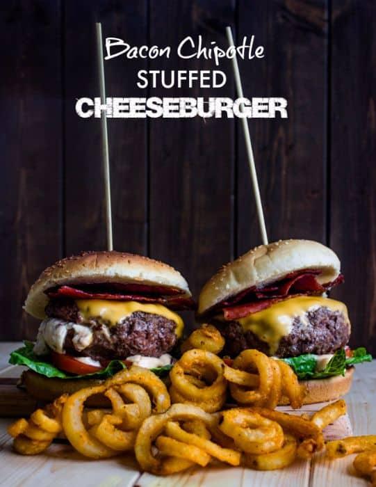Bacon Chipotle Stuffed Cheeseburger