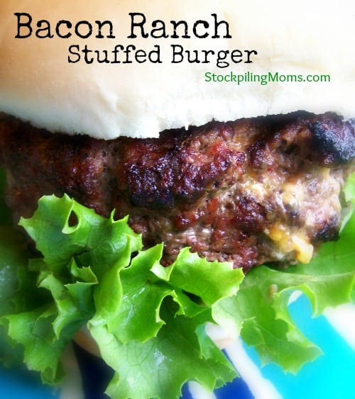 Bacon Ranch Stuffed Burger