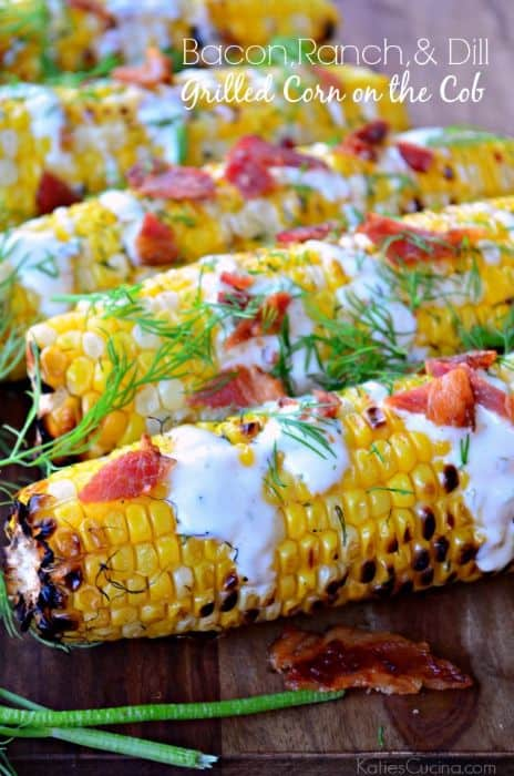 Bacon, Ranch & Dill Grilled Corn on the Cob