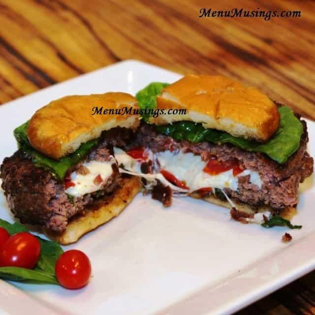 Caprese Stuffed Burger