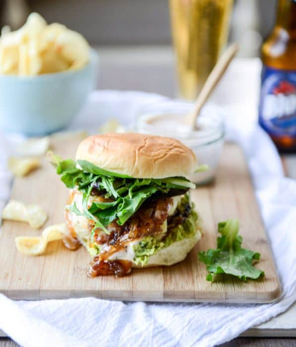 Goat Cheese Guac Burger