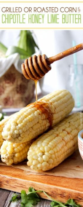 Grilled Corn with Chipotle Honey Lime Butter