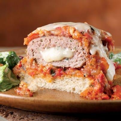 Mozzarella Stuffed Turkey Burgers