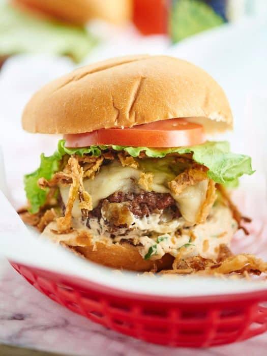 Pepper Jack Stuffed Burger