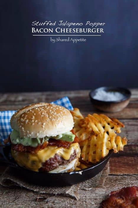 Stuffed Jalapeno Popper Bacon Cheese Burger