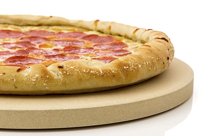round pizza stone